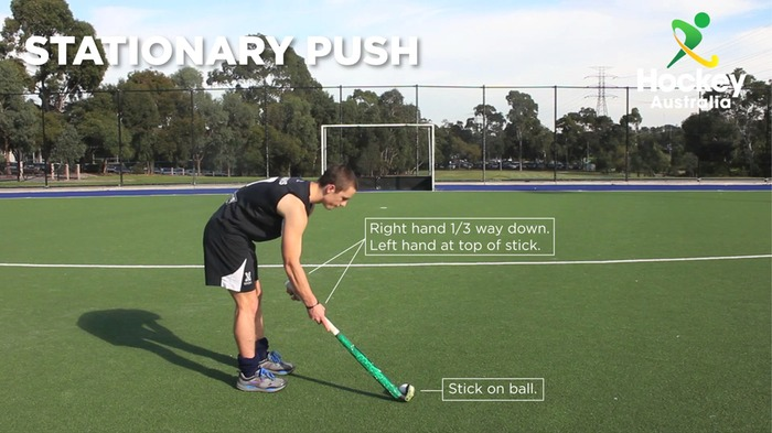 Stationary Pushing - Hockey Australia Skill Set